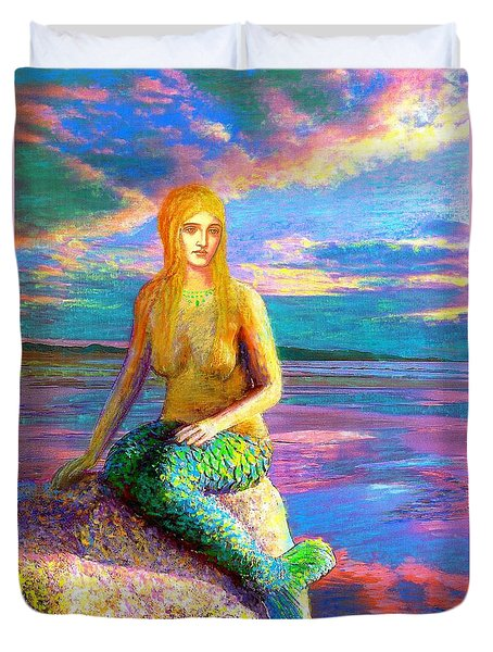 Mermaid Magic Duvet Cover by Jane Small