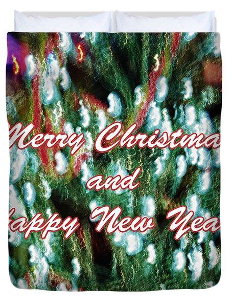Merry Christmas 2 Duvet Cover by Skip Nall