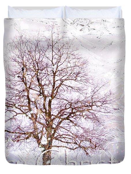 Merry Christmas Duvet Cover by Jenny Rainbow