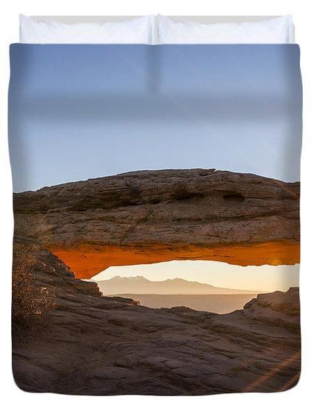 Mesa Arch Sunrise 7 - Canyonlands National Park - Moab Utah Duvet Cover by Brian Harig