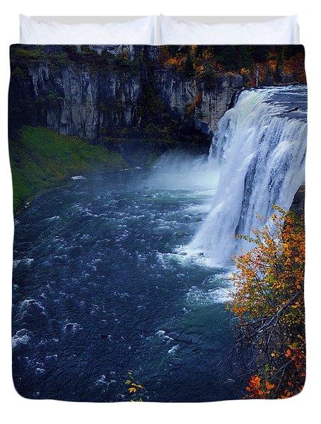 Mesa Falls Duvet Cover by Raymond Salani III
