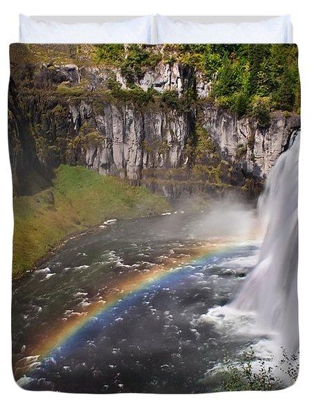 Mesa Falls Duvet Cover by Robert Bales