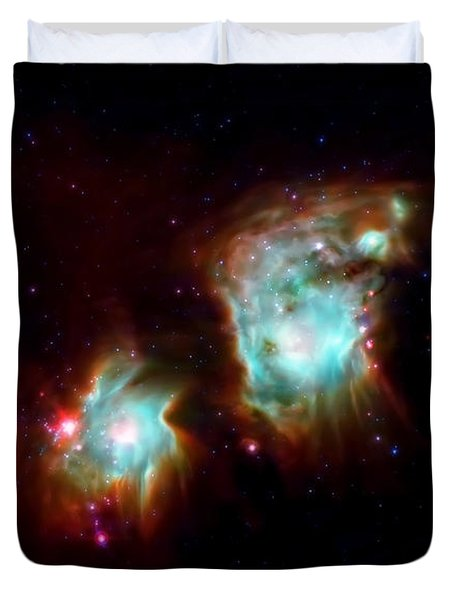 Messier 78 Star Formation Duvet Cover by The  Vault - Jennifer Rondinelli Reilly