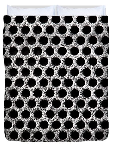 Metal grill dot pattern Duvet Cover by Simon Bratt Photography LRPS