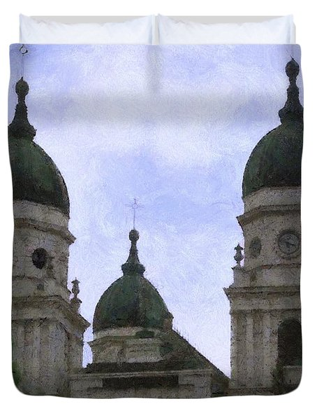 Metropolitan Cathedral Duvet Cover by Jeff Kolker