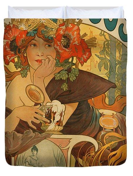 Meuse Beer Duvet Cover by Alphonse Marie Mucha