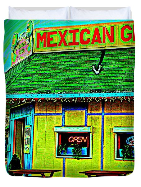 Mexican Grill Duvet Cover by Chris Berry