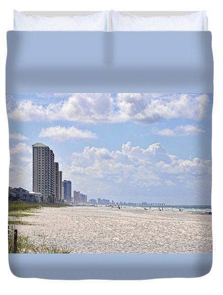 Mexico Beach Coastline Duvet Cover by Kenny Francis