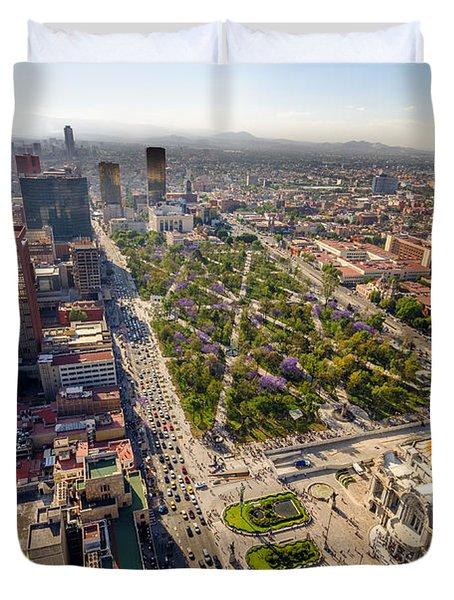 Mexico City Aerial View Duvet Cover by Jess Kraft