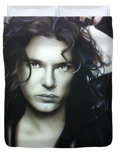 'Michael Hutchence' Duvet Cover by Christian Chapman Art