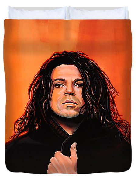 Michael Hutchence Duvet Cover by Paul  Meijering