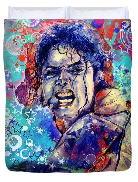 Michael Jackson 11 Duvet Cover by Bekim Art