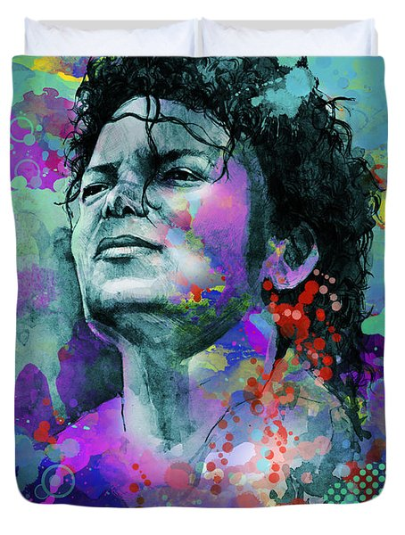 Michael Jackson 12 Duvet Cover by Bekim Art