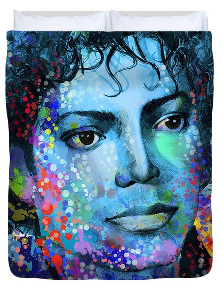 Michael Jackson 14 Duvet Cover by Bekim Art