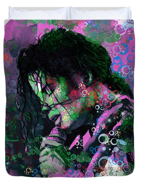 Michael Jackson 16 Duvet Cover by Bekim Art