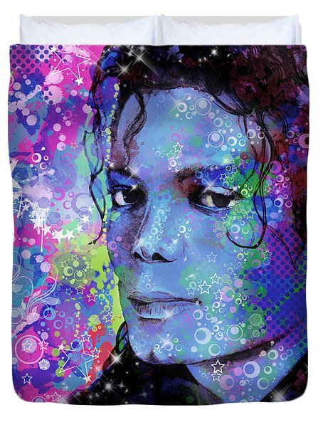 Michael Jackson 17 Duvet Cover by Bekim Art