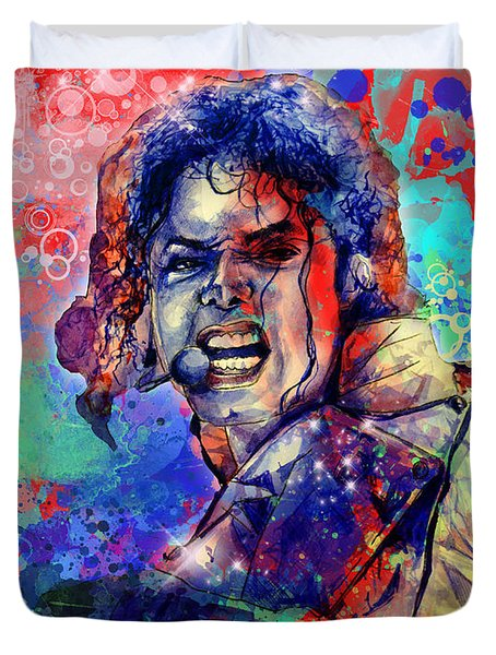 Michael Jackson 8 Duvet Cover by Bekim Art