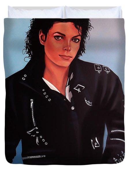 Michael Jackson Bad Duvet Cover by Paul  Meijering