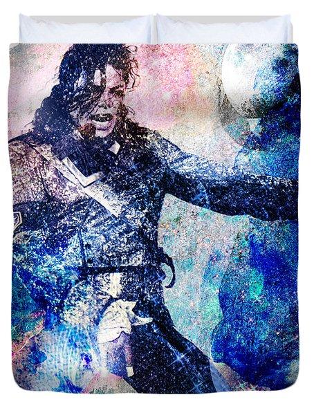 Michael Jackson Original Painting  Duvet Cover by Ryan RockChromatic