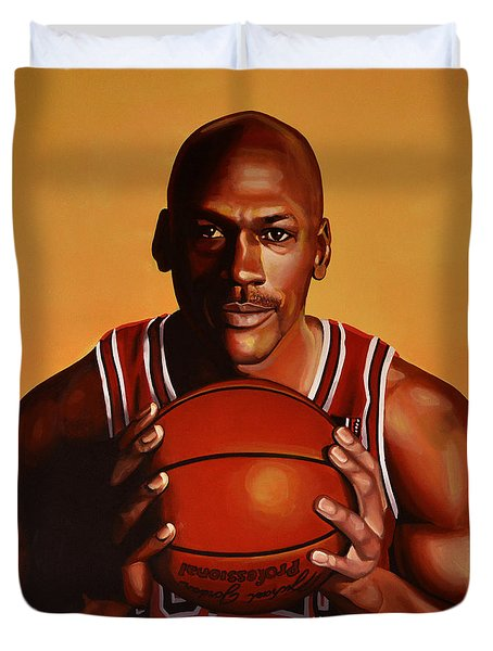 Michael Jordan 2 Duvet Cover by Paul Meijering