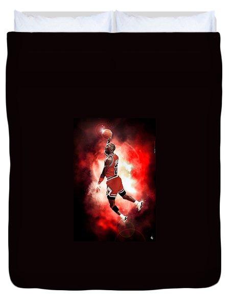 Michael Jordan Duvet Cover by NIcholas Grunas Cassidy