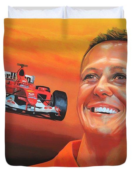 Michael Schumacher 2 Duvet Cover by Paul  Meijering