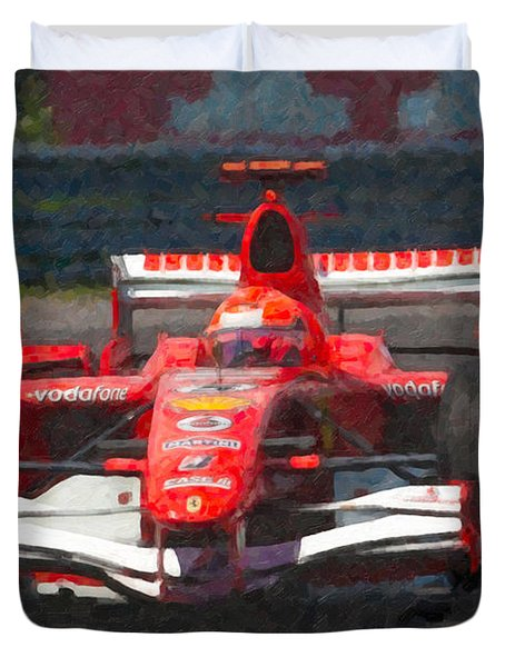 Michael Schumacher Canadian Grand Prix I Duvet Cover by Clarence Holmes