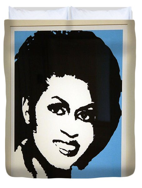 Michelle Obama Duvet Cover by Cora Wandel