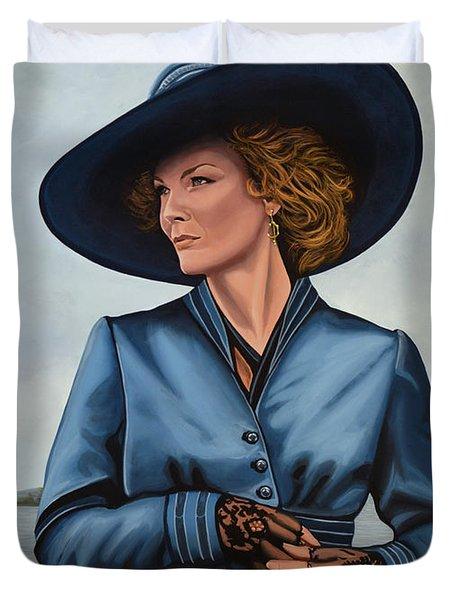 Michelle Pfeiffer Duvet Cover by Paul  Meijering
