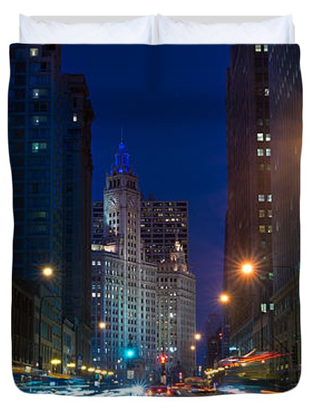 Michigan Avenue Chicago Duvet Cover by Steve Gadomski