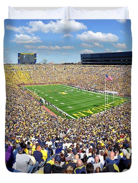 Michigan Stadium - Wolverines Duvet Cover by Georgia Fowler