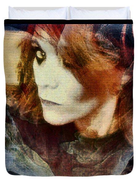 Midnight Darkness Duvet Cover by Linda Sannuti
