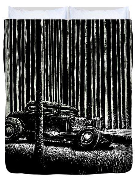 Midnight Run Duvet Cover by Bomonster