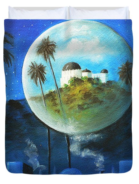 Midnights Dream In Los Feliz Duvet Cover by Susi Galloway