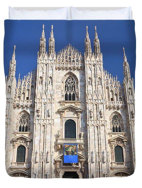Milan Cathedral  Duvet Cover by Antonio Scarpi