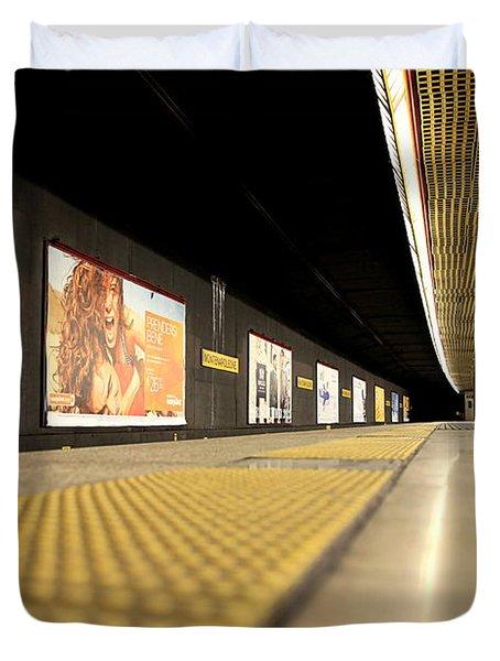 Milan Subway Station Duvet Cover by Valentino Visentini