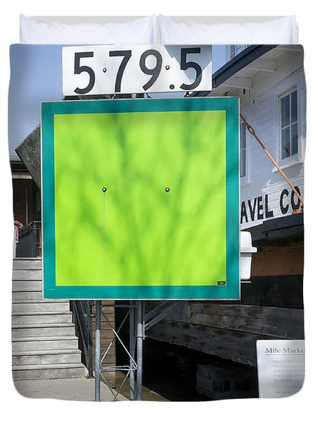 Mile Marker 579.5 Duvet Cover by Steven Ralser