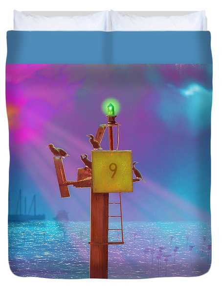 Mile Marker 9 Duvet Cover by Gerry Robins