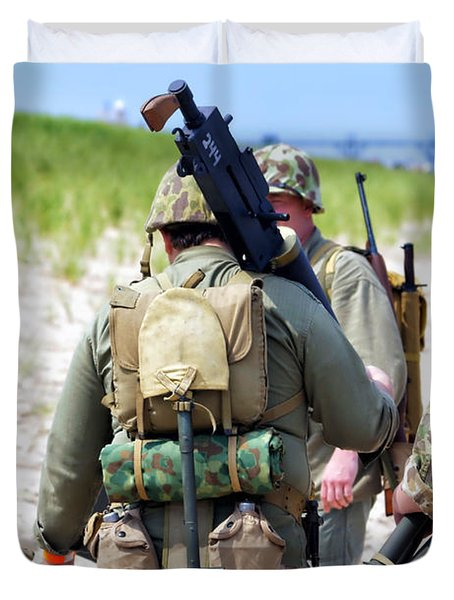 Military Small Arms 03 WW II Duvet Cover by Thomas Woolworth