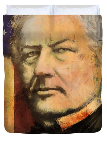 Millard Fillmore Duvet Cover by Corporate Art Task Force