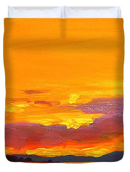 Mimosa Sunrise Duvet Cover by Mike Savlen