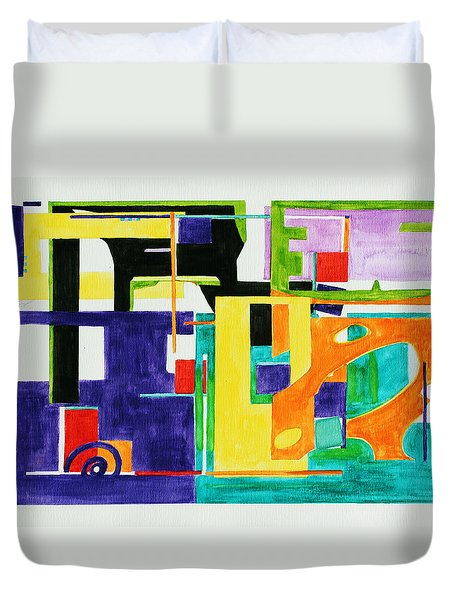 Mindscape II Duvet Cover by Xueling Zou