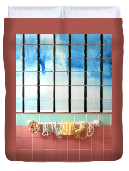 Mini Laundry Duvet Cover by Daniel Furon