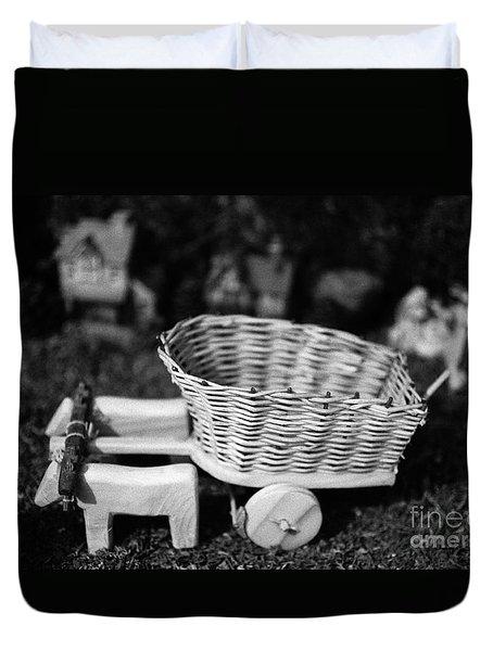 Miniature Oxen-cart Duvet Cover by Gaspar Avila
