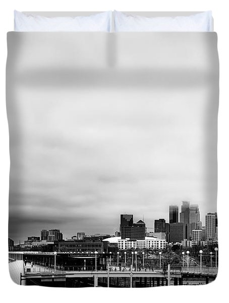 Minneapolis From The University Of Minnesota Duvet Cover by Tom Gort