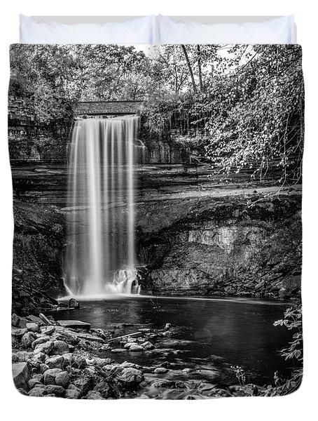 Minnehaha Falls Duvet Cover by Paul Freidlund
