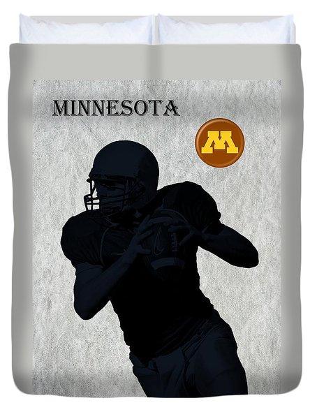Minnesota Football Duvet Cover by David Dehner