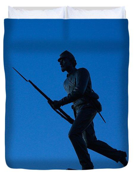Minnesota Soldier Monument at Gettysburg Duvet Cover by John Greim