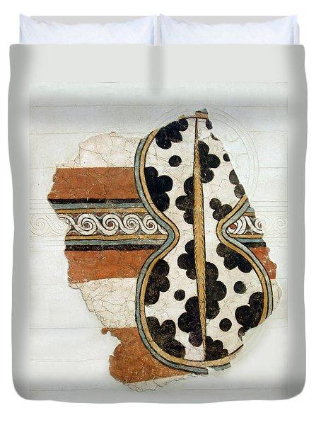 Minoan Livestock Painting Duvet Cover by Ellen Henneke