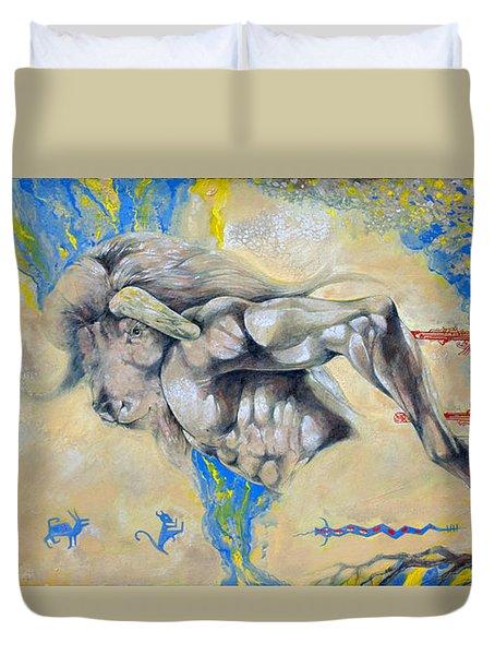 Minotaur Duvet Cover by Derrick Higgins